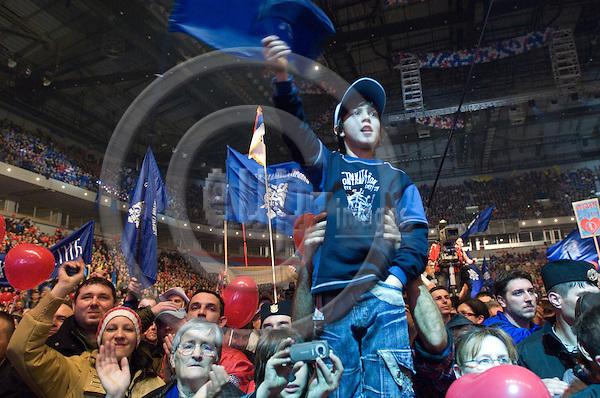 BELGRADE - SERBIA 31 JAN 2008 -- Supporters of Tomislav NIKOLIC on a political ralley in Belgrade. -- © GORM K. GAARE/  EUP- IMAGES