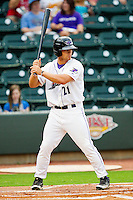 Brady Shoemaker #21 of the Winston-Salem Dash at bat against the Wilmington Blue Rocks at BB&T Ballpark on August 3, 2011 in Winston-Salem, North Carolina.  The Blue Rocks defeated the Dash 6-2.   Brian Westerholt / Four Seam Images