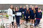 The graduating class of 2017 from SN Cillín Liath on Tuesday with a special distinction for one pupil Sophia Nic Gearailt who never missed a day in Primary School pictured here with her teacher front Elaine Seoigh, back l-r; Donagh Ó Suilleabháin, Cathal Ó Suilleabháin, Isabella Ní Churrain, Corinna Ní Ghadhra Ní Shúilleabháin, Rebecca Ní Shúilleabháin, Lorna Ní Shé, Pádraig Ó Conchúir agus Cillian Ó Sé.