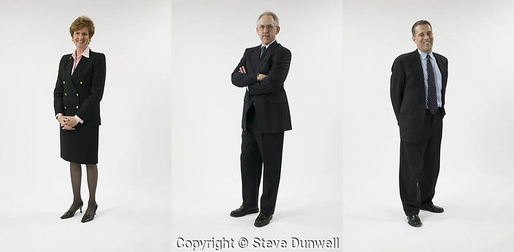 business portrait on white seamless