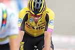 Primoz Roglic (SLO) Team Jumbo-Visma 6th at the end of Stage 5 of La Vuelta 2019 running 170.7km from L'Eliana to Observatorio Astrofisico de Javalambre, Spain. 28th August 2019.<br /> Picture: Colin Flockton | Cyclefile<br /> <br /> All photos usage must carry mandatory copyright credit (© Cyclefile | Colin Flockton)