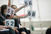 Picture by Allan McKenzie/SWpix.com - 25/11/2017 - Swimming - Swim England Synchronised Swimming National Age Group Championships 2017 - GL1 Leisure Centre, Gloucester, England - Judges score the individual figure performances.
