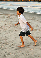 Boy at the beach.