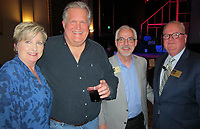 NWA Democrat-Gazette/CARIN SCHOPPMEYER Anita and Rusty Turner (from left), Ron Hayes and Ed McClure gather at the Arkansas Public Theatre season leak March1 at the theater in Rogers.
