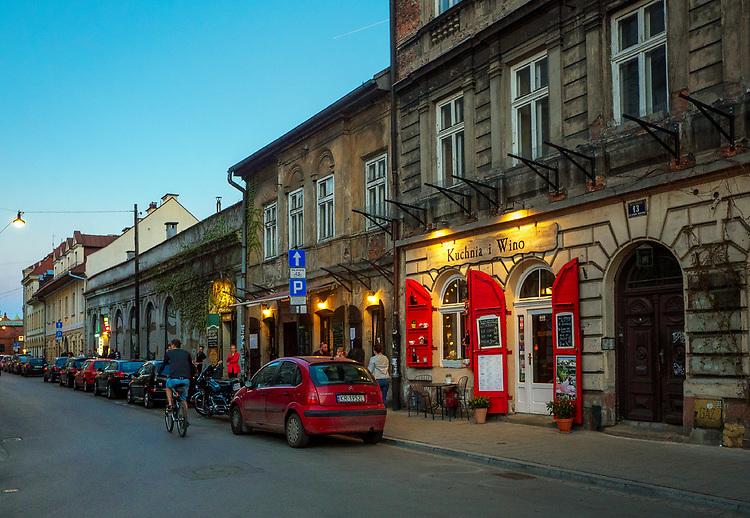 Kraków, 2018.04.12. Ulica Józefa na Krakowskim Kazimierzu.