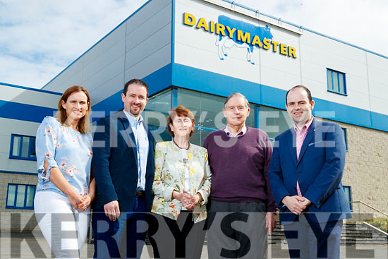 The Harty family pictured at the Dairymaster factory in Causeway during the 50 year celebrations John, Maureen, Ned and Edmond Harty, Dairymaster