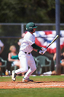 Eastern Michigan Eagles third baseman Devin Hager (23) at bat during a game against the Dartmouth Big Green on February 25, 2017 at North Charlotte Regional Park in Port Charlotte, Florida.  Dartmouth defeated Eastern Michigan 8-4.  (Mike Janes/Four Seam Images)