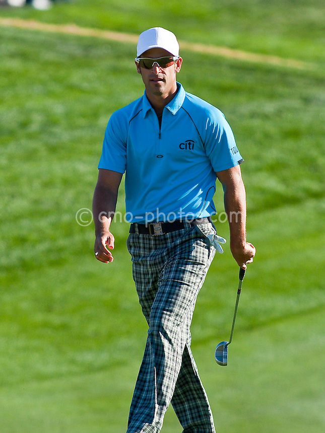 Jan 31, 2009; Scottsdale, AZ, USA; James Nitties (AUS) walks up to the 18th green during the third round of the FBR Open at the TPC Scottsdale.  Mandatory Credit: Chris Morrison-US PRESSWIRE