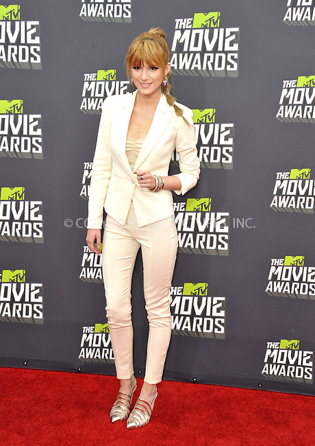 WWW.ACEPIXS.COM....April 14, 2013, Los Angeles, Ca.......Bella Thorne arriving at the 2013 MTV Movie Awards at Sony Pictures Studios on April 14, 2013 in Culver City, California.......By Line: Peter West/ACE Pictures....ACE Pictures, Inc..Tel: 646 769 0430..Email: info@acepixs.com