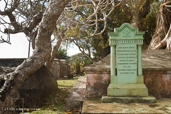 Barbados - St John's Parish Church - Tomb of Ferdinando Paleologus descended Greek royalty