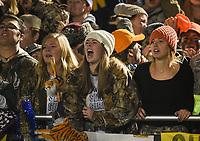NWA Democrat-Gazette/CHARLIE KAIJO Bentonville West students react, Friday, November 8, 2019 during a football game at Bentonville West High School in Centerton.