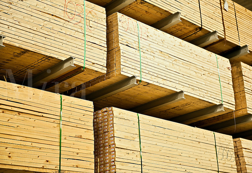 Wood building supplies.