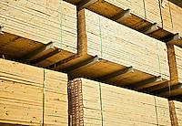 Wood building supplies.