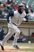 April 15th, 2007:  Jerry Owens of the Charlotte Knights, Class-AAA affiliate of the Chicago White Sox, during a game at Frontier Field in Rochester, NY.  Photo by:  Mike Janes/Four Seam Images