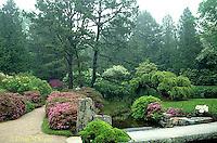 AC34-002a  Flower garden - Japanese style garden
