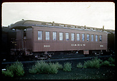 3/4 view passenger car #300.<br /> D&amp;RGW