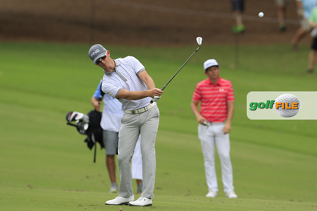 Brandon Stone (RSA) plays his 2nd shot on the 10th hole during Friday's Round 2 of the 2017 PGA Championship held at Quail Hollow Golf Club, Charlotte, North Carolina, USA. 11th August 2017.<br /> Picture: Eoin Clarke | Golffile<br /> <br /> <br /> All photos usage must carry mandatory copyright credit (&copy; Golffile | Eoin Clarke)