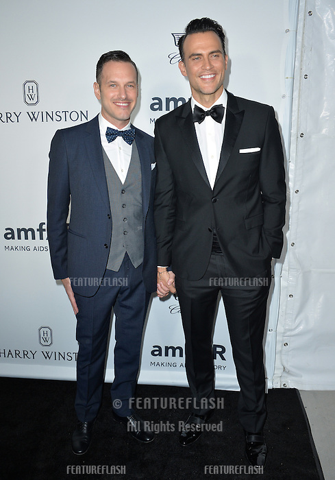 LOS ANGELES, CA. October 27, 2016: Cheyenne Jackson &amp; Jason Landau at the 2016 amfAR Inspiration Gala at Milk Studios, Los Angeles.<br /> Picture: Paul Smith/Featureflash/SilverHub 0208 004 5359/ 07711 972644 Editors@silverhubmedia.com