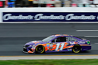 July 15, 2017 - Loudon, New Hampshire, U.S. - Denny Hamlin, Monster Energy NASCAR Cup Series driver of the FedEx Office Toyota (11), runs in the NASCAR Monster Energy Overton's 301 final practice round held at the New Hampshire Motor Speedway in Loudon, New Hampshire. Larson placed first in the qualifier. Eric Canha/CSM