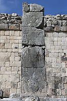 Detail of column, Southern Temple, Game of Ball, 900-1100, Toltec Architecture, Chichen Itza, Yucatan, Mexico. Picture by Manuel Cohen
