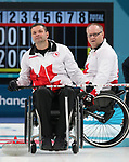 Pyeongchang, Korea, 17/3/2018- Mark Ideson,  compete in the bronze medal game of wheelchair curling during the 2018 Paralympic Games. Photo: Scott Grant/Canadian Paralympic Committee.