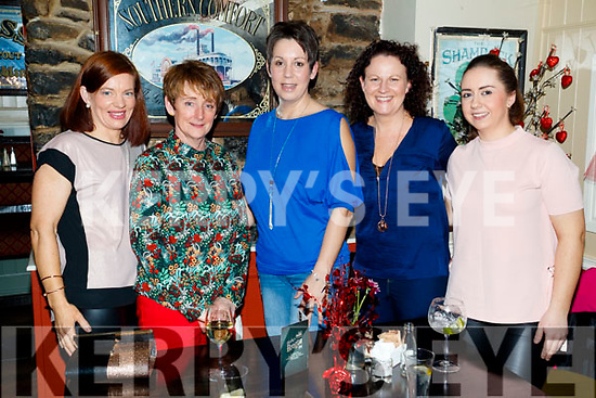 Jane Walsh, Glin, Limerick, who celebrated her 40th birthday with friends at the Brogue Inn, Tralee were l-r: Sinead Joy, Lou Irwin, Jane Walsh, Irene Passway and Sandra Brosnan.