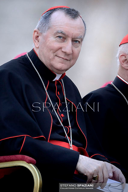 Cardinal Pietro Parolin.Pope Francis vigil prayer in preparation for the Synod on the Family at St Peter's square at the Vaticann.October 4, 2014