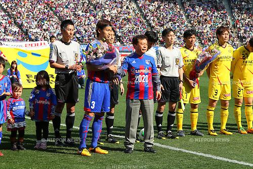 (L-R) Masato Morishige (FC Tokyo),  Naoki Inose, MARCH 9, 2013 - Football / Soccer : 2013 J.LEAGUE Division 1 match between FC Tokyo 3-0 Kashiwa Reysol at Ajinomoto Stadium, Tokyo, Japan. (Photo by AFLO SPORT) [1156].
