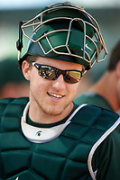 Michigan State Spartans catcher Matt Byars (28) during a game against the Illinois State Redbirds on March 8, 2016 at North Charlotte Regional Park in Port Charlotte, Florida.  Michigan State defeated Illinois State 15-0.  (Mike Janes/Four Seam Images)