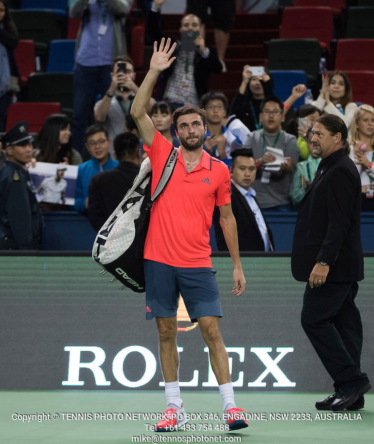 GILLES SIMON (FRA)<br /> <br /> TENNIS - ROLEX SHANGHAI MASTERS - QI ZHONG TENNIS CENTER - MINHANG DISTRICT - SHANGHAI - CHINA - ATP 1000 - 2016  <br /> <br /> <br /> <br /> &copy; TENNIS PHOTO NETWORK