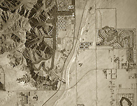 historical aerial photograph La Quinta California 1972