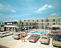 Kona Kai Motel, Wildwood, NJ - Family in front of the motel.