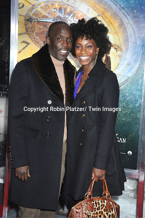 """Michael Kenneth Williams and date attends The World Premiere of """"Hugo in 3D"""" on November 21, 2011 at The Ziegfeld Theatre in New York City."""