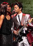 Emi Wokoma (Tina Turner) & Chris Tummings(Ike Turner)..Emi Wokoma (Tina Turner) & Chris Tummings(Ike Turner) in the musical..'Soul Sister' at the Hackney Empire, London - April 17th 2012