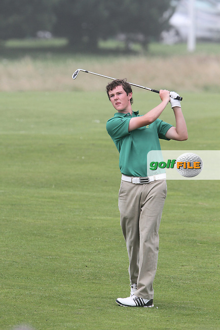 John Ross Gilbraith (IRL) on the 10th on the Final Day at the 2012 Boys Home Internationals at Co.Louth Golf Club in Baltray, Co.Louth...(Photo credit should read Jenny Matthews/NEWSFILE)...