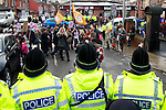 Pix: Shaun Flannery/shaunflanneryphotography.com...COPYRIGHT PICTURE>>SHAUN FLANNERY>01302-570814>>07778315553>>..10th December 2010...........Students protest over the rise in university tuition fees outside the Shine Centre in Leeds as Prime Minister, David Cameron addresses a group inside.
