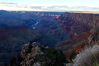 Aug. 22, 2014; GRAND CANYON, AZ, USA; General view from the south rim of the Grand Canyon in northern Arizona. The canyon has been formed over millions of years by the Colorado River cutting its way through the desert. Mandatory Credit: Mark J. Rebilas