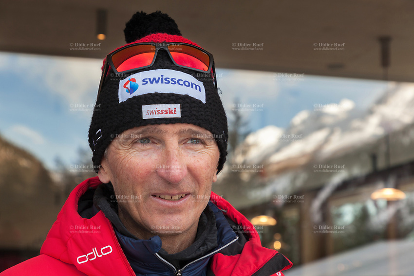 Switzerland. Canton Ticino. Swiss-Cups Campra. Cross Country Skiing. FIS Classic Sprint Race. Hippolyt Kempf is the Cross Country Skiing Chef by Swiss-Ski. Born 10 December 1965, he is a Swiss Nordic combined skier who competed during the late 1980s and early 1990s. He won a complete set of Olympic medals, earning two of them at the 1988 Winter Olympics in Calgary (gold: 15 km individual, silver: 3 x 10 km team) and the third at the 1994 Winter Olympics in Lillehammer (bronze: 3 x 10 km team). Kempf also earned a 3 x 10 km team silver medal at the 1989 FIS Nordic World Ski Championships in Lahti. Swiss-Ski is a branch of Swiss Olympic. The Fédération Internationale de Ski (FIS; English: International Ski Federation) is the world's highest governing body for international winter sports. Founded  on 2 February 1924, it is responsible for the Olympic disciplines of cross-country skiing. The FIS is also responsible for setting the international competition rules. 4.01.2020 © 2020 Didier Ruef