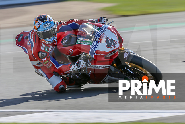 Dan LINFOOT (4) of the BSB Honda Racing race team during Free Practice 1 at Round 9 of the 2018 British Superbike Championship at Silverstone Circuit, Towcester, England on Friday 7 September 2018. Photo by David Horn.