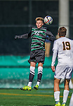 3 October 2015: Binghamton University Bearcat Midfielder Conrad Nowowiejski, a Freshman from Hollis Hills, NY, in action against the University of Vermont Catamounts at Virtue Field in Burlington, Vermont. The Bearcats held on to defeat the Catamounts 2-1 in America East conference play. Mandatory Credit: Ed Wolfstein Photo *** RAW (NEF) Image File Available ***