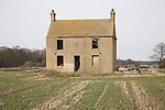 Abandoned Fenland house at Southerly, Norfolk, England