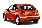 Car pictures of rear three quarter view of 2015 Peugeot 208 Allure 5 Door Hatchback Angular Rear