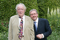 22/6/10 Michael Colgan with actor Michael Gambon before he recieves his OBE from Ambassador Julian King at the British Amabassador's residence at Glencairn House in Sandyford, Dublin. Arthur Carron/Collins