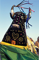 Bumba-meu-boi, popular party that mix religious elements and ancient fables. Barreirinhas city, in the border of Lençóis Maranhenses dunes. State: Maranhão; Brazil.