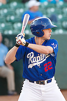Adam Law (22) of the Ogden Raptors at bat against the Idaho Falls Chukars in Pioneer League play at Lindquist Field on September 5, 2013 in Ogden Utah.  (Stephen Smith/Four Seam Images)