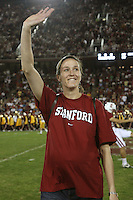 STANFORD, CA - NOVEMBER 15:  Hall of Fame inductee Kristin Folkl during Stanford's 45-23 loss to the USC Trojans on November 15, 2008 at Stanford Stadium in Stanford, California.