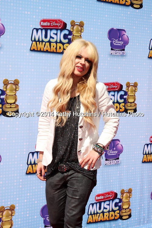 LOS ANGELES - APR 26:  Orianthi at the 2014 Radio Disney Music Awards at Nokia Theater on April 26, 2014 in Los Angeles, CA