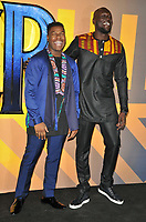 John Boyega and Stormzy at the &quot;Black Panther&quot; European film premiere, Hammersmith Apollo (Eventim Apollo), Queen Caroline Street, London, England, UK, on Thu 08 February 2018.<br /> CAP/CAN<br /> &copy;CAN/Capital Pictures