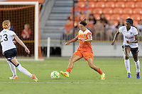Houston, TX - Thursday Aug. 18, 2016: Amber Brooks during a regular season National Women's Soccer League (NWSL) match between the Houston Dash and the Washington Spirit at BBVA Compass Stadium.