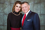 30.01.2018; Amman, Jordan: QUEEN RANIA  AND KING ABDULLAH OF JORDAN<br />